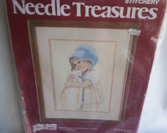 Embroidery Vintage Needle Treasures Stitchery Kit New