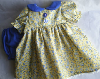 Doll Clothes Dress and Panties fits A G & Gotz  Dolls 16 18 inch handmade