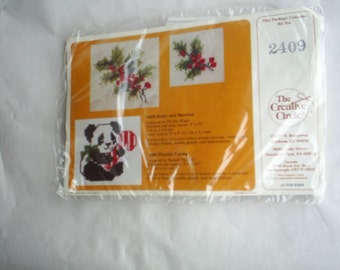 Counted Cross Stitch Embroidery Creative Circle Kit New unopened Makes 4 Pandas
