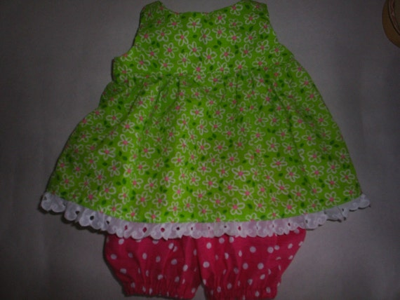 Spring Daisy Dress and Bloomers fits Build a Bear fits Hello Kitty HandMade