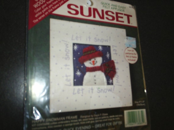 Felt Applique SunSet Needle Kit New Let it Snow