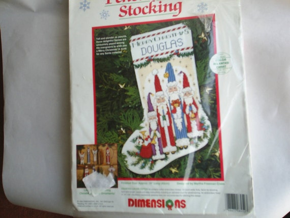 Dimensions Christmas Santa Counted Cross Stitch Stocking Kit New