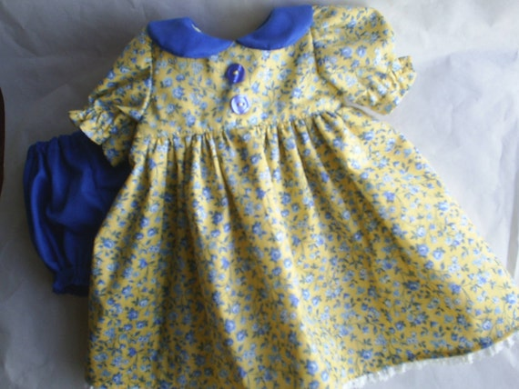 American Girl Doll Dress and Panties fits Gotz  Dolls 16 18 inch handmade