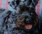 ChipperSkipper, Original Art, CUSTOM Pet Portrait Oil Paintings by puci, dog paintings, 10x10""