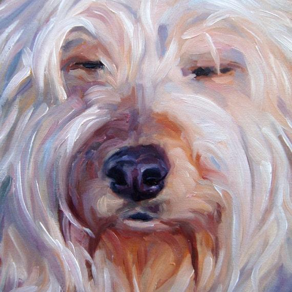 """Zen Moment, custom Pet Portrait Oil Painting by puci, 8x8"""""""