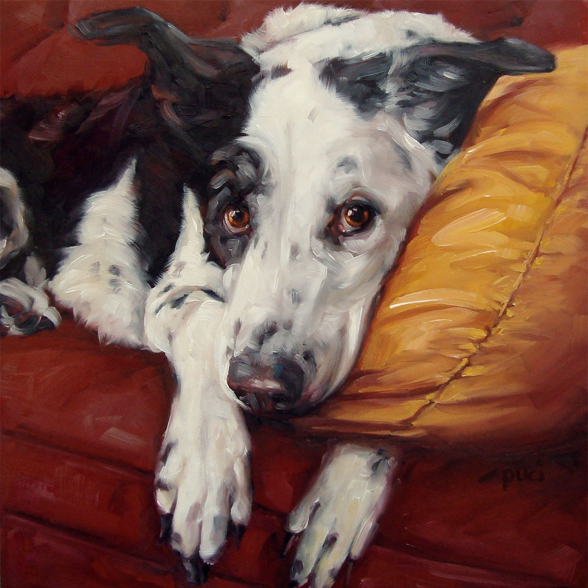 our beloved pets custom pet portrait oil paintings by puci