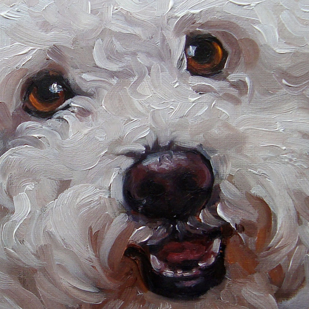 Pet lovers custom pet portrait oil painting by puci for Painting of your dog