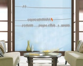 ShaNickers Wall Decal- Flock of Birds on a Wire with FREE SHIPPING