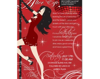 Adult Personalized Birthday Invitations - Bachelorette - Stationery by razzledazzledesign on Etsy