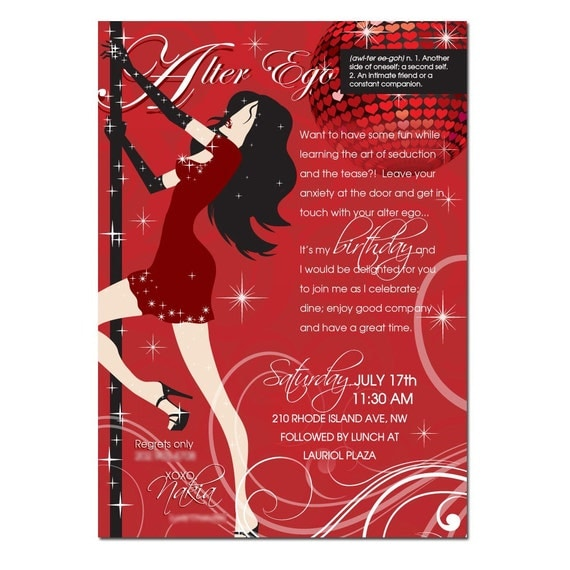 Adult Personalized Birthday Invitations Bachelorette