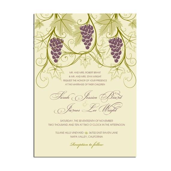 Winery Wedding Invitations: Vineyard Themed Wedding Invitations Stationery By