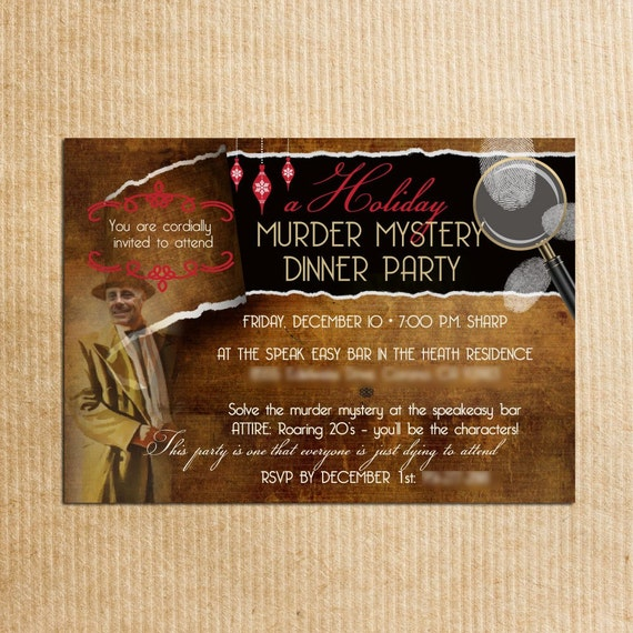 Murder Mystery Dinner Sheet Free: Items Similar To Adult Personalized Murder Mystery Dinner