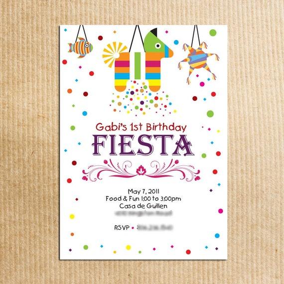 Childrens Fiesta Birthday Party Invitation by ...