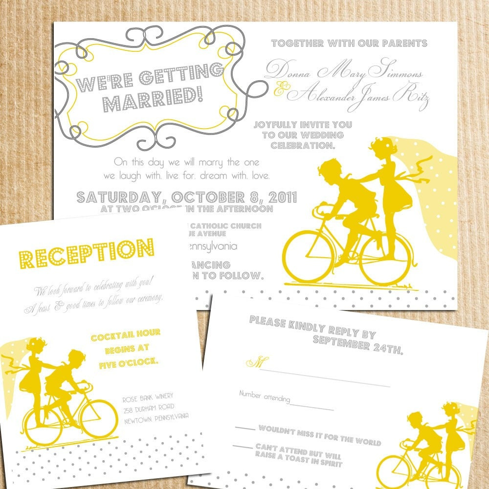 vintage yellow gray wedding invitations - 28 images - vintage lace ...