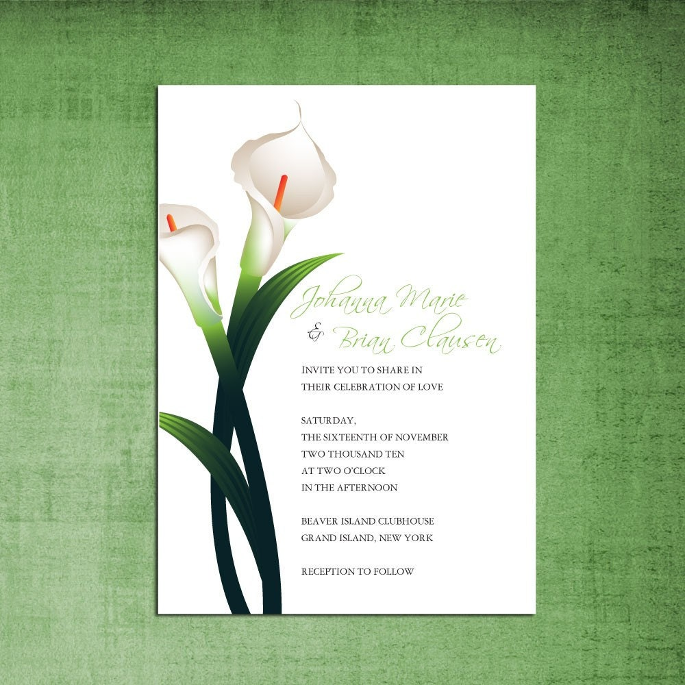 Calla Lily Wedding Invitations absolutely amazing ideas for your invitation example