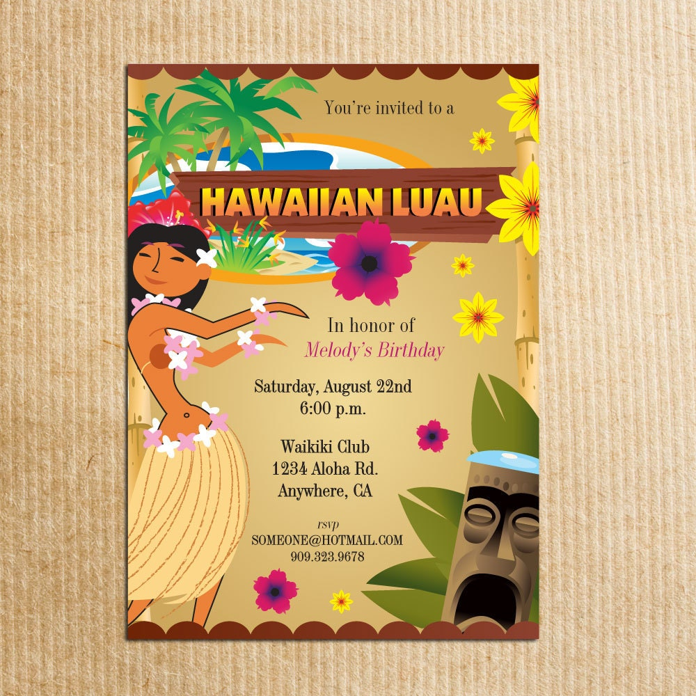 Luau Birthday Party Invitations was very inspiring ideas you may choose for invitation ideas