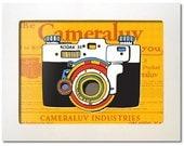 Cameraluv - Kodak 35 Alive - 7 x 5 Framed Digital Print
