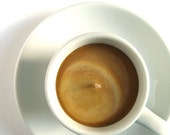 Espresso Shot SOY CANDLE - Coffee Cup with Saucer - Hazelnut Latte Scented