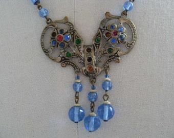 Bohemian Glass Necklace - Vintage SALE PRICE