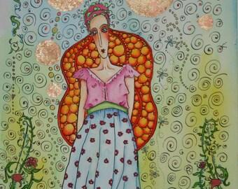 Garden Of Min  Original Watercolour by Kim Feint..