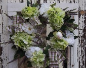 CUSTOM ORDER for DMILLER514 - Green Hydrangea Peony Summer Wreath