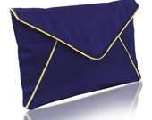 Purple and gold satin Katerina clutch