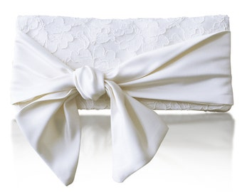 Ivory lace Hope bridal clutch