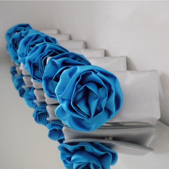 Bridesmaids gifts clutch coin purses custom made in your color scheme