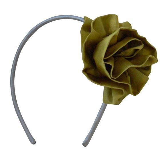 Flora lime\/silver headband