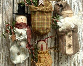 123 - Homespun Winter Ornament e-Pattern