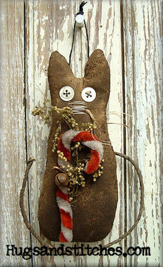 118 - Harley the Grungy Cat Ornament e-Pattern