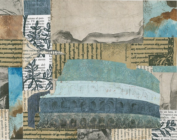 Original Collage - Roman Layers