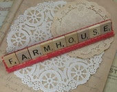 FARMHOUSE Scrabble Tile Sign