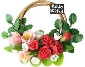 Mini Flower Wreath, Handicraft Roses