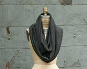 SALE  Fall Fashion Wool Cowl Scarf  Winter Charcoal Gray Unisex