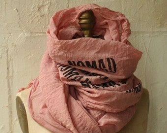 016 printed scarf cotton dirty pink nomad scarf