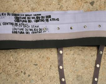 Gray Industrial Elastic Belt , wide belt
