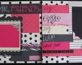 True Friends 2 12x12 page layout