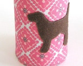 RESERVED - Hawaiian Desk Vacation Pup Cup with Chocolate Lab