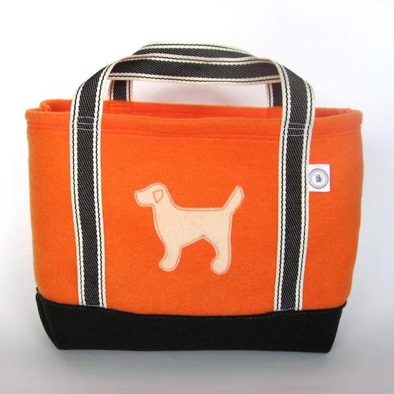 LAST ONE SALE \/ Yellow Lab on Tricks for Treats Tote
