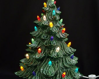 classic ceramic christmas tree 19 inches - Ceramic Christmas Trees With Lights