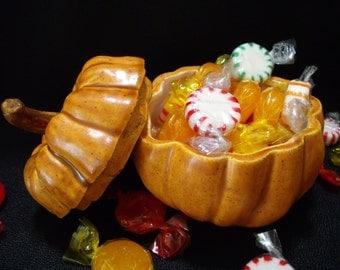 Handy Pumpkin Candy Dish
