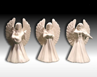 Vintage-Victorian Angels in White