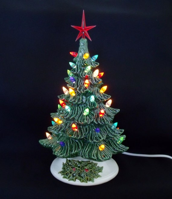 Chistmas Trees: Lighted Ceramic Christmas Tree 12 Inches