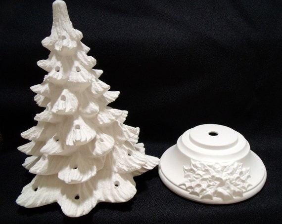 Ready to paint ceramic christmas tree kit 11 inches from for Ceramic based paint