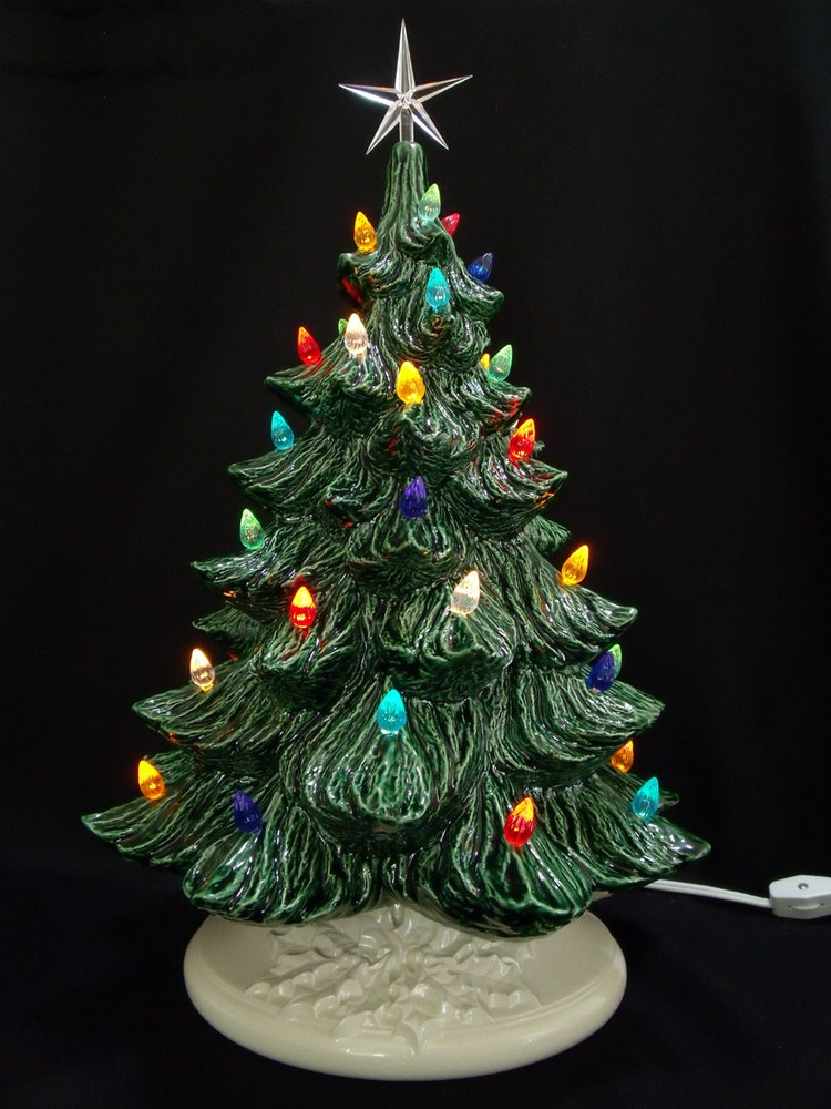 Classic Ceramic Christmas Tree 19 Inches By Darkhorsestore