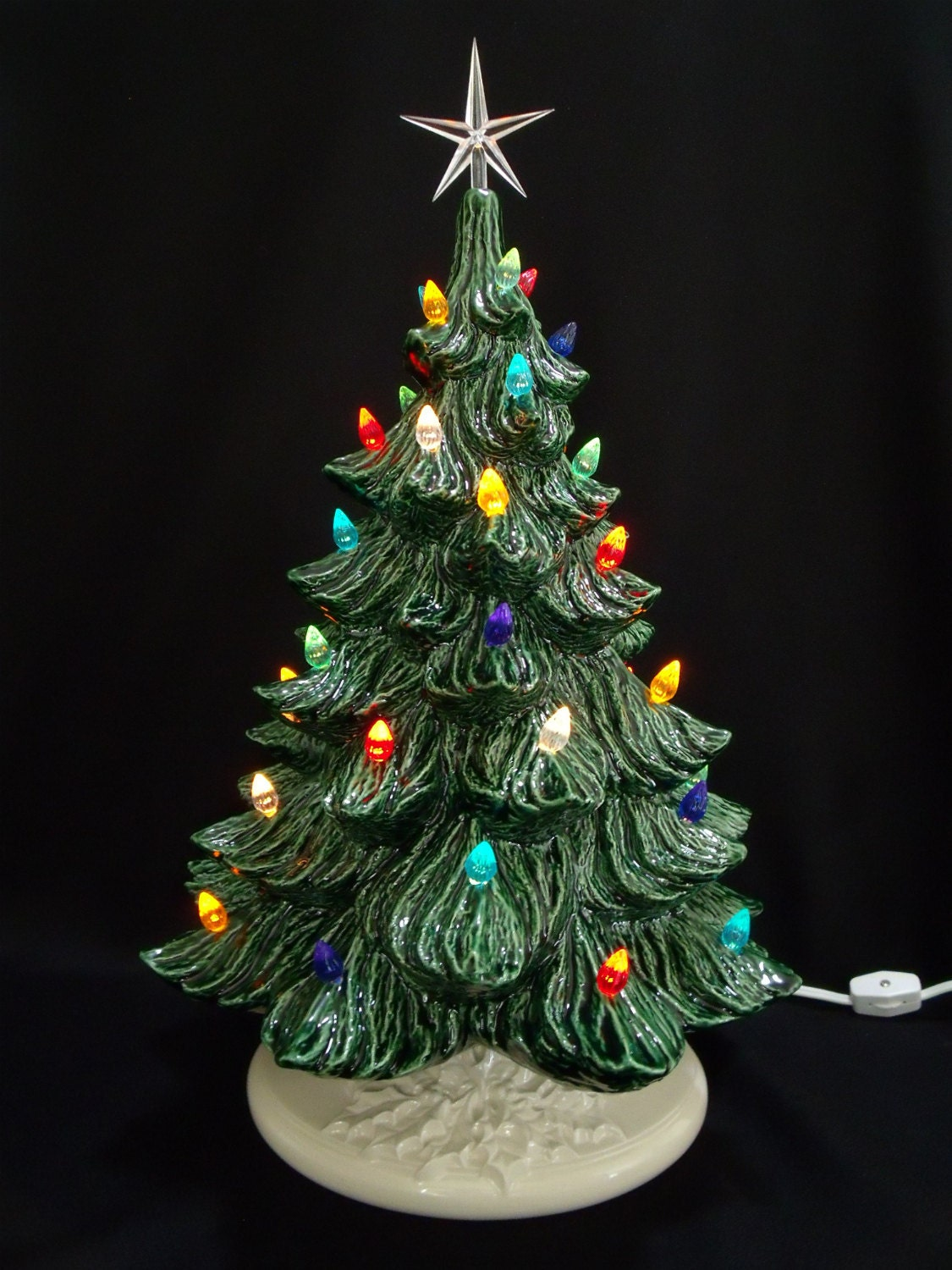 Classic Ceramic Christmas Tree 19 Inches