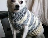 Doggie sweater (Grey Stripes)