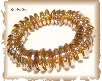 Glamorous Handmade Fumed Lampwork Glass Beads