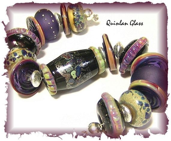 Quinlan Glass Gypsy Caravan Handmade Organic Lampwork Glass Beads